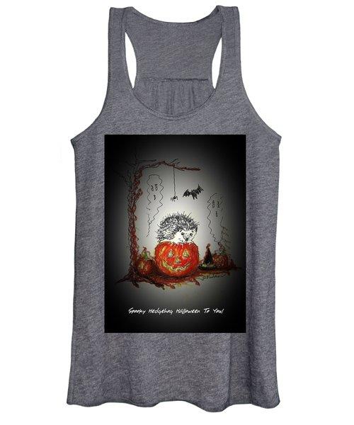 Spooky Hedgehog Halloween Women's Tank Top