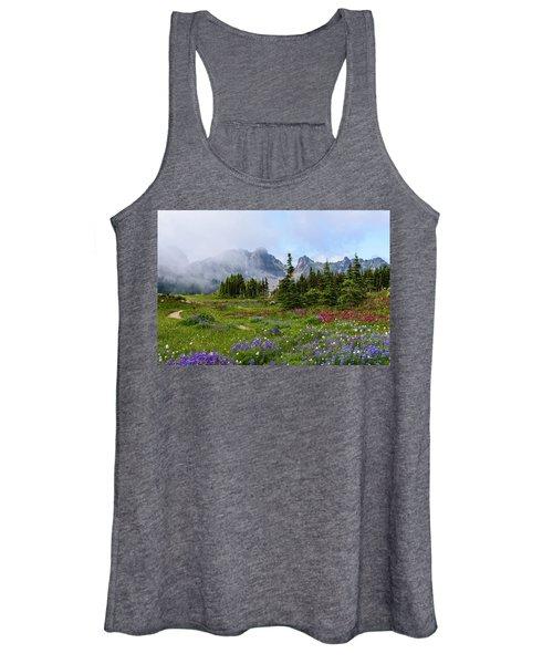 Spray Park In Mount Rainier Women's Tank Top