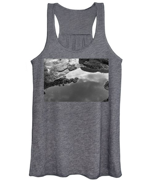 Spring Clouds Puddle Reflection Women's Tank Top