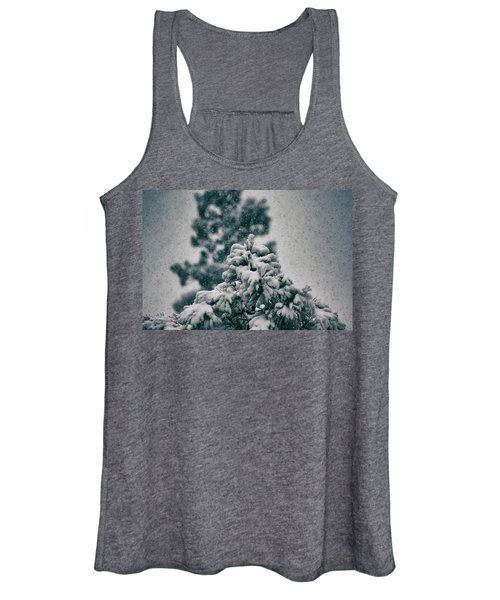 Spring Snowstorm On The Treetops Women's Tank Top