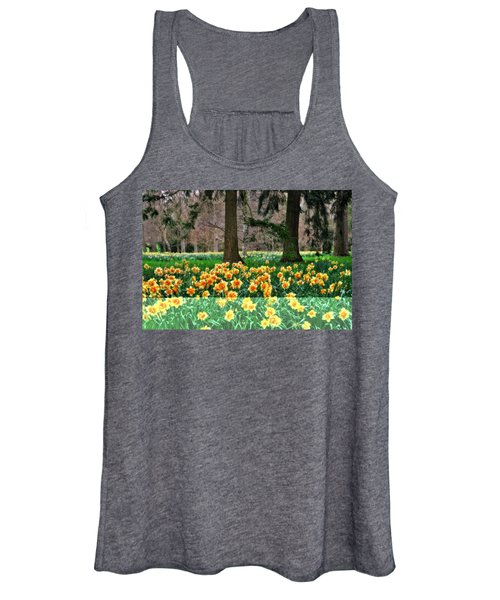 Spring Woodland Daffodils Women's Tank Top