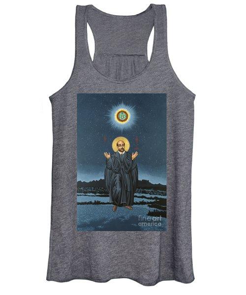St. Ignatius In Prayer Beneath The Stars 137 Women's Tank Top