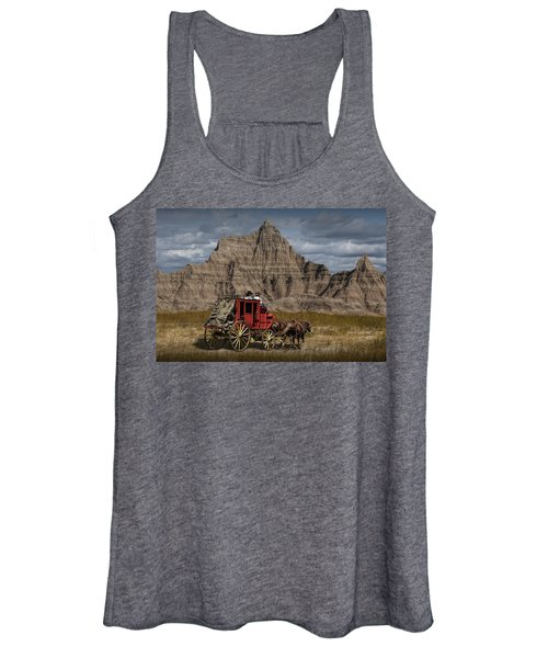 Stage Coach In The Badlands Women's Tank Top