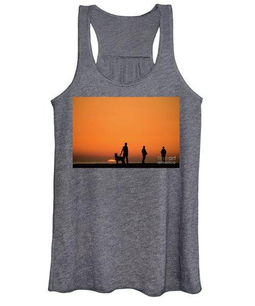 Standing At Sunset Women's Tank Top