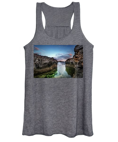 Standing At The Tip Of Sea Women's Tank Top