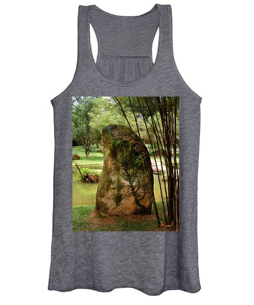 Standing Stone With Fern And Bamboo 19a Women's Tank Top