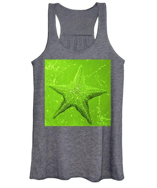 Starfish In Green Women's Tank Top