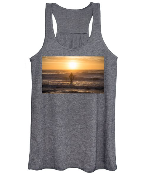 Start The Day Surfing Women's Tank Top