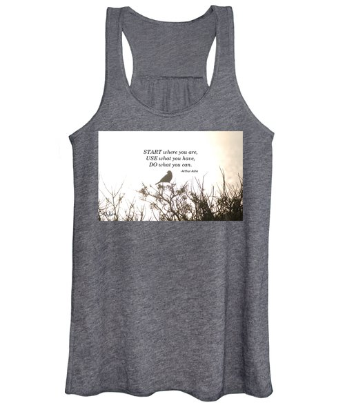Start Where Your Are Women's Tank Top