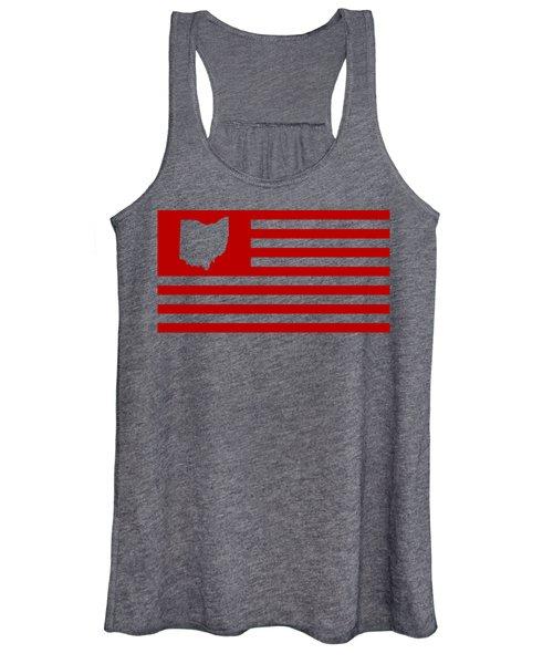 State Of Ohio - American Flag Women's Tank Top