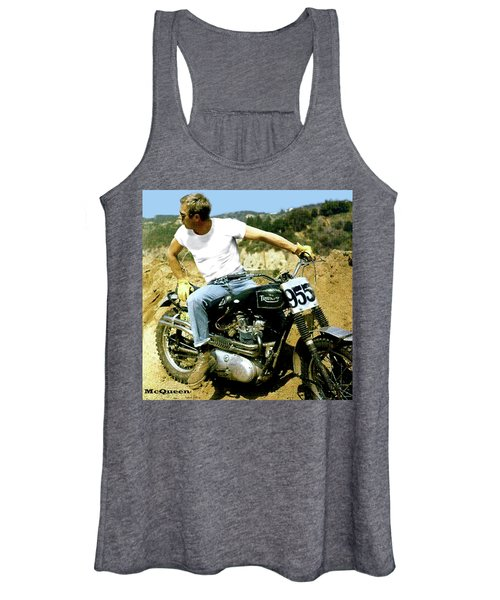 Steve Mcqueen, Triumph Motorcycle, On Any Sunday Women's Tank Top