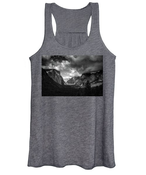 Storm Arrives In The Yosemite Valley Women's Tank Top