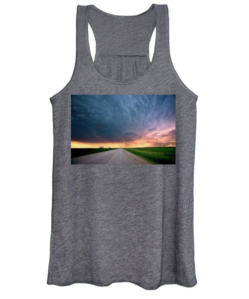 Storm Clouds Over Saskatchewan Country Road Women's Tank Top