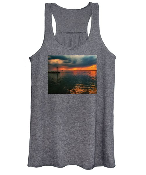 Storm In Lorain Ohio At The Lighthouse Women's Tank Top