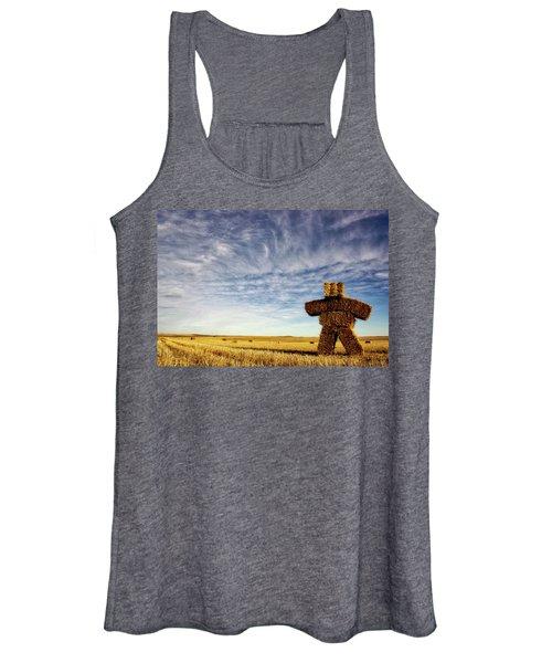 Strawman On The Prairies Women's Tank Top