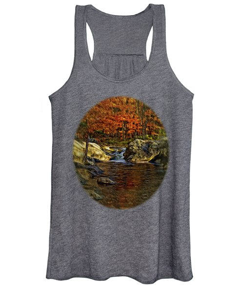 Stream In Autumn 57 In Oil Women's Tank Top