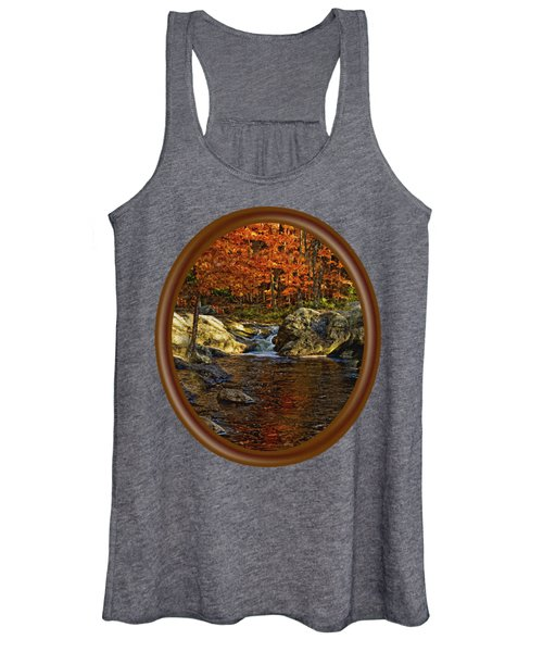 Stream In Autumn 58 Women's Tank Top
