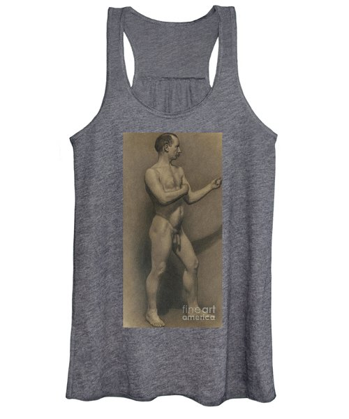 Study Of The Male Figure, 1875 Women's Tank Top