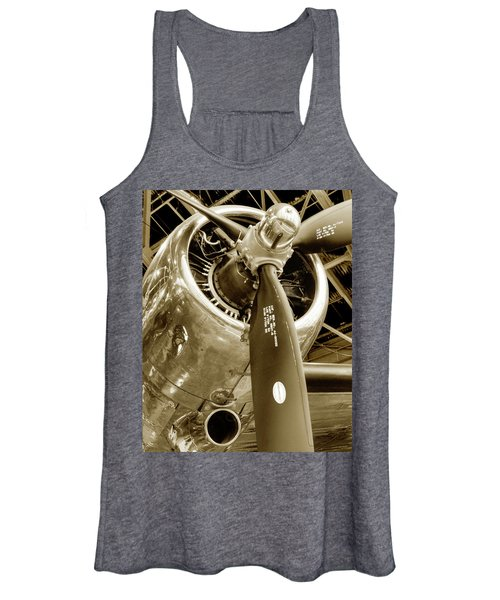 Stunning Propeller In Sepia Women's Tank Top
