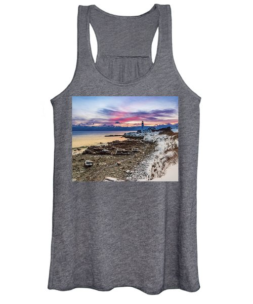 Subtle Sunrise At Portland Head Light Women's Tank Top