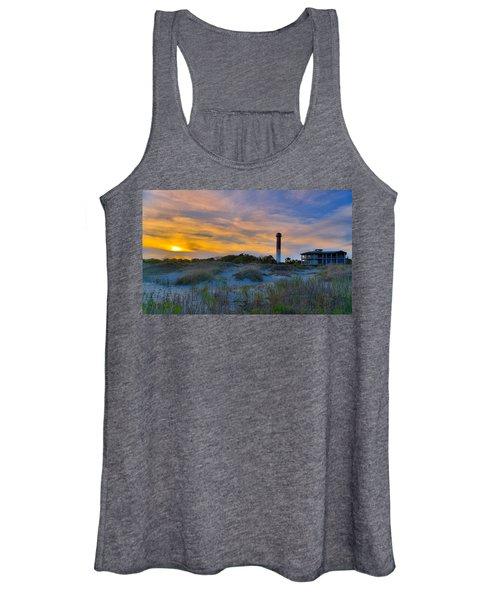 Sullivan's Island Lighthouse At Dusk - Sullivan's Island Sc Women's Tank Top