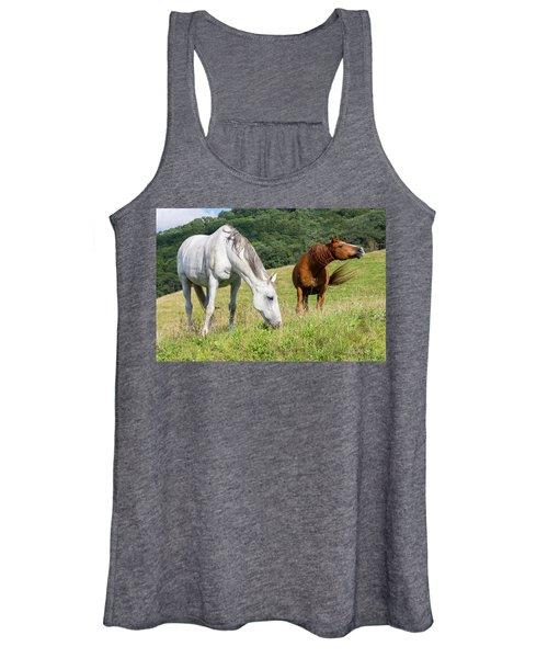 Summer Evening For Horses Women's Tank Top