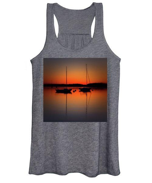 Summer Sunset Calm Anchor Women's Tank Top