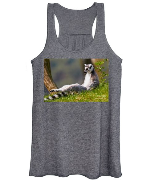 Sun Bathing Ring-tailed Lemur  Women's Tank Top