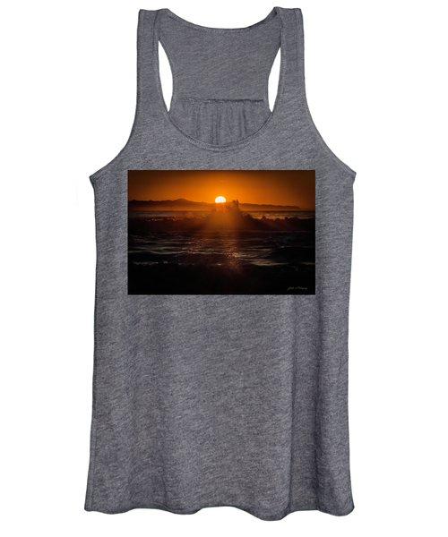 Sun Setting Behind Santa Cruz Island Women's Tank Top