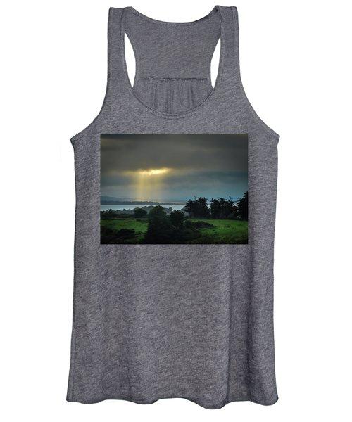 Women's Tank Top featuring the photograph Sunbeam Spotlights Shannon Airport by James Truett