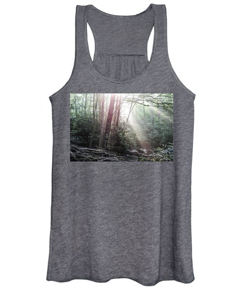 Sunbeam Streaming Into The Forest Women's Tank Top