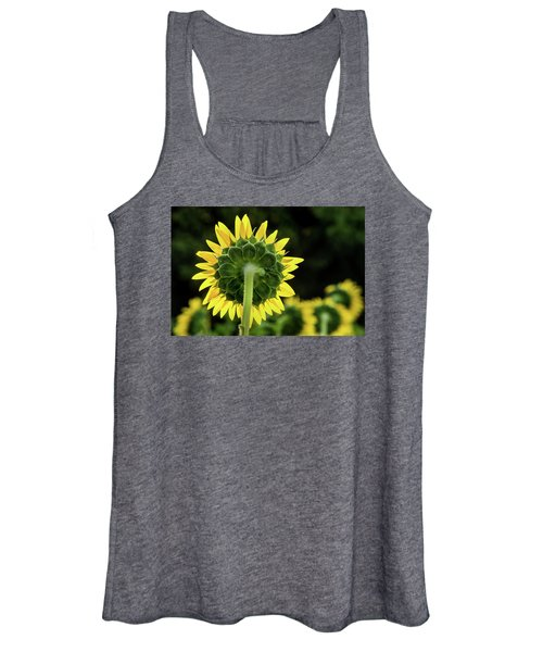 Sunflower Back Women's Tank Top