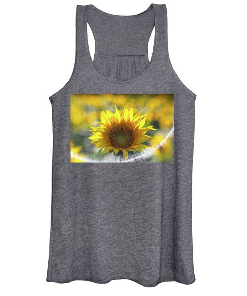 Sunflower With Lens Flare Women's Tank Top
