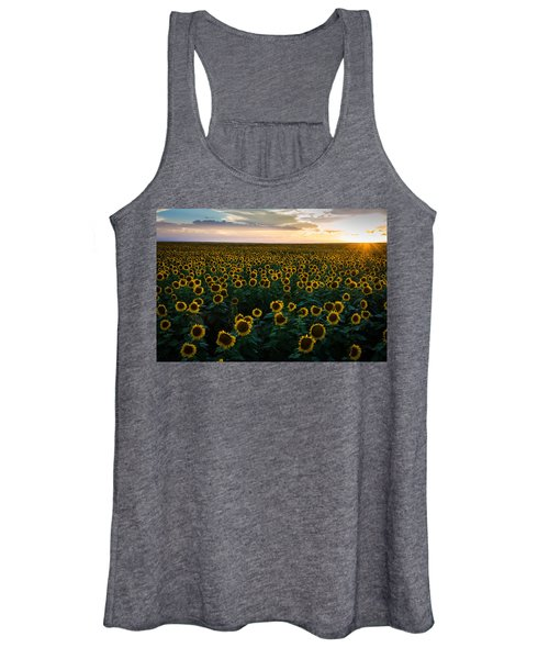 Sunflowers At Sunset Women's Tank Top