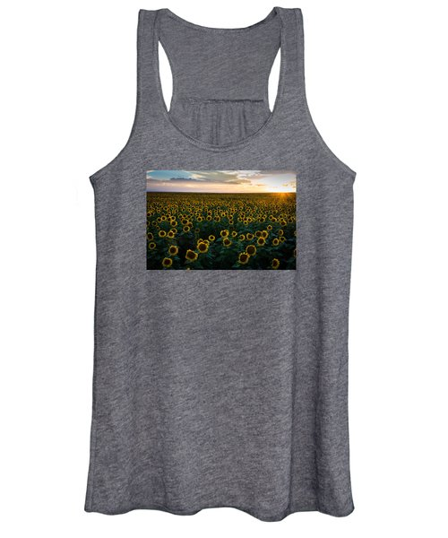 Sunflowers At Sunset Women's Tank Top