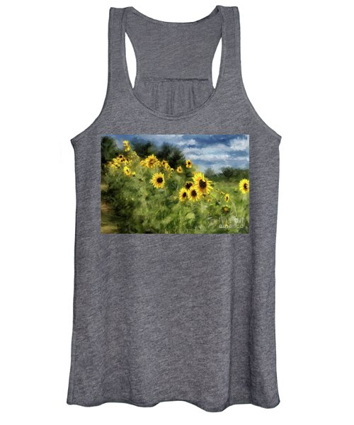 Sunflowers Bowing And Waving Women's Tank Top
