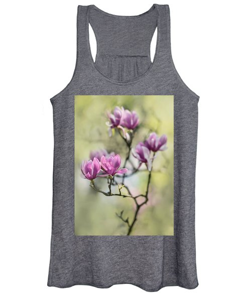 Sunny Impression With Pink Magnolias Women's Tank Top