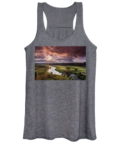 Sunrise At The Course Women's Tank Top