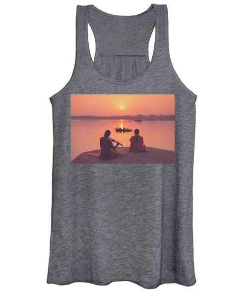 Sunrise By The Ganges Women's Tank Top