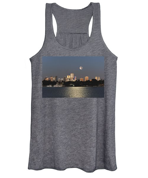 Moonrise Over Miami Women's Tank Top