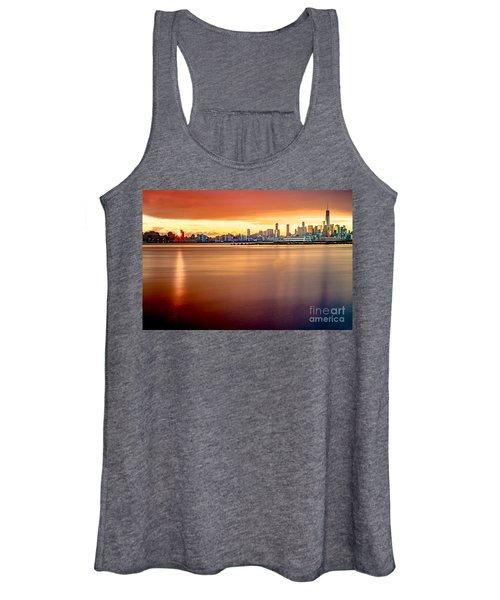 Sunrise On The Weehawken Waterfront Women's Tank Top