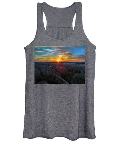 Sunrise Over The Woods Women's Tank Top