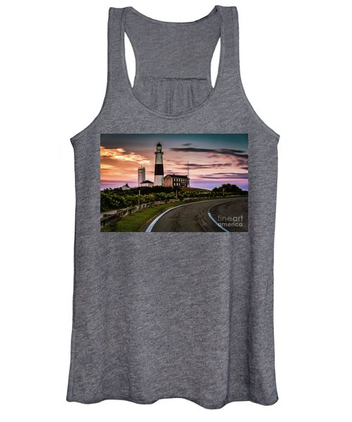 Sunrise Road To The Montauk Lighthous Women's Tank Top