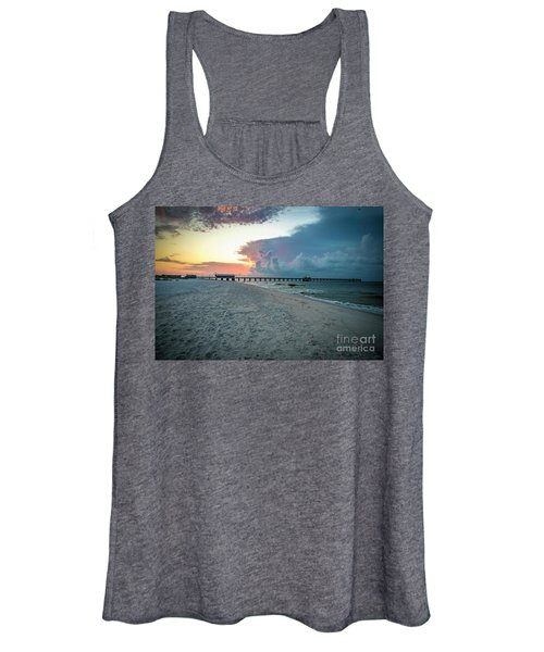 Sunrise Seascape Gulf Shores Al Pier 064a Women's Tank Top