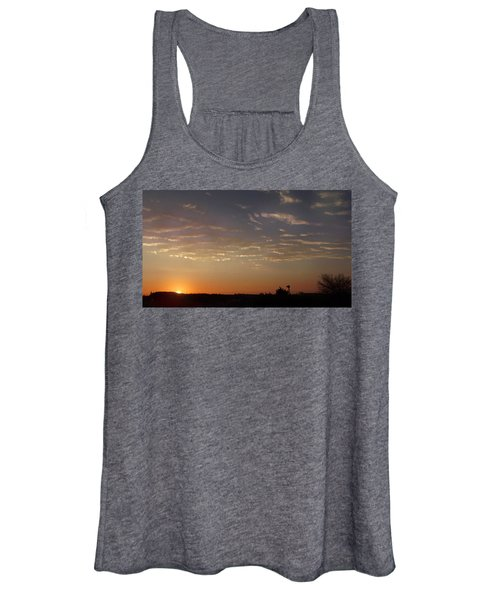 Sunrise With Windmill Women's Tank Top