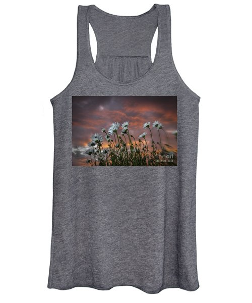 Sunset And Daisies Women's Tank Top