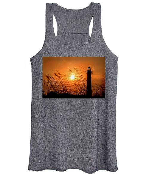 Sunset At Cm Lighthouse Women's Tank Top