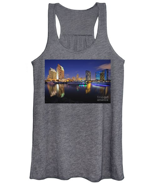 Sunset At Embarcadero Marina Park In San Diego Women's Tank Top