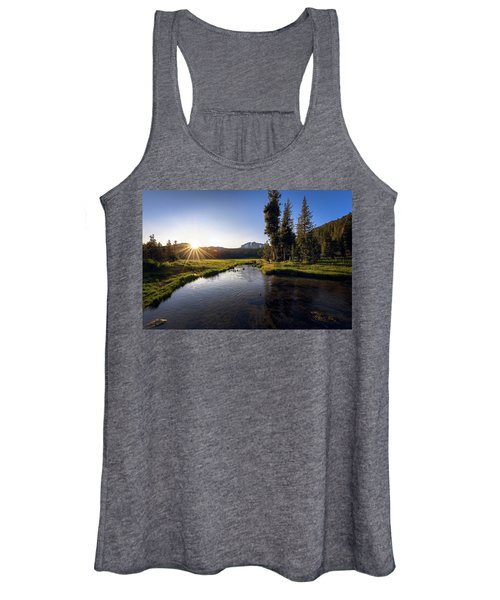 Sunset At Kings Creek In Lassen Volcanic National Women's Tank Top