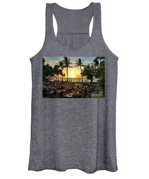 Sunset At Old Lahaina Luau #1 Women's Tank Top